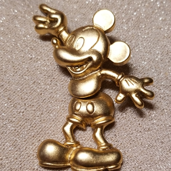 Disney Jewelry - Vintage Mickey Mouse Articulated Brooch